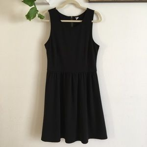 Old Navy Fit & Flare Black Dress Sz L